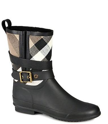 Burberry Holloway Canvas Rain Boots