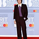 Harry Styles on the 2020 BRIT Awards Red Carpet