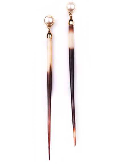 Lulu Frost Quill Earrings ($230)