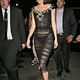 For the Harper's Bazaar Icons Party, Kendall Wore a Sheer Dolce & Gabbana Number