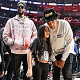 Watch Blue Ivy Meet LeBron James at the Lakers Game