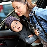 Miranda Kerr takes Flynn to the Children's Museum in NYC.