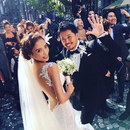Model Sun Wei's Galia Lahav Wedding Dress