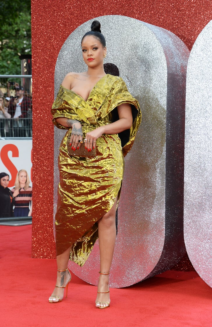 Rihanna Wore A Sexy Gold Dress By Pioret Rihanna S Gold