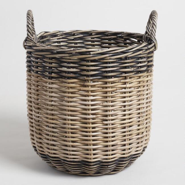 Large Two Tone Kubu Celeste Tote Basket