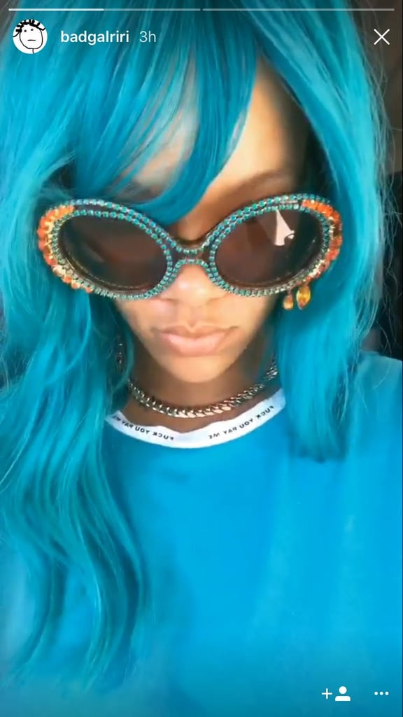 Rihanna Is Rocking Bright Blue Hair — and She Looks Like a Frickin' Mermaid!