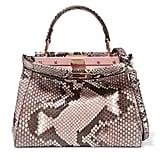 Fendi Peekaboo Mini Python Shoulder Bag - Pink ($5,950)