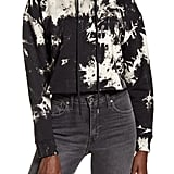 One Clothing Tie Dye Crop Cotton French Terry Hooded Sweatshirt