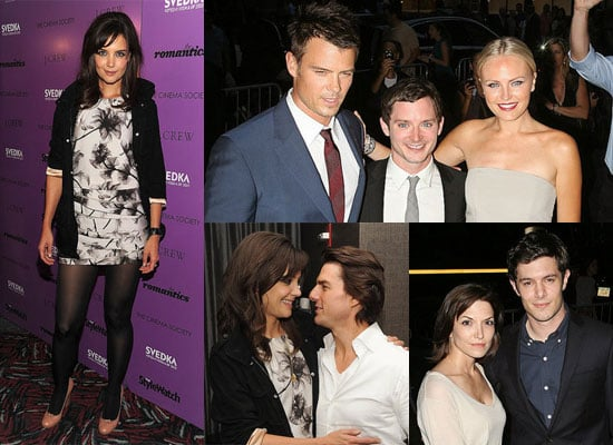 Katie Holmes and Tom Cruise Kissing at the NYC Premiere of The Romantics
