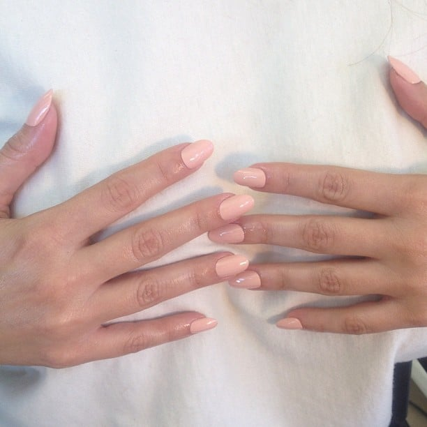 Kim Kardashian was keen to showcase her new nude nails. | Instagram ...