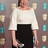 When she practiced her BAFTA award-winning face.