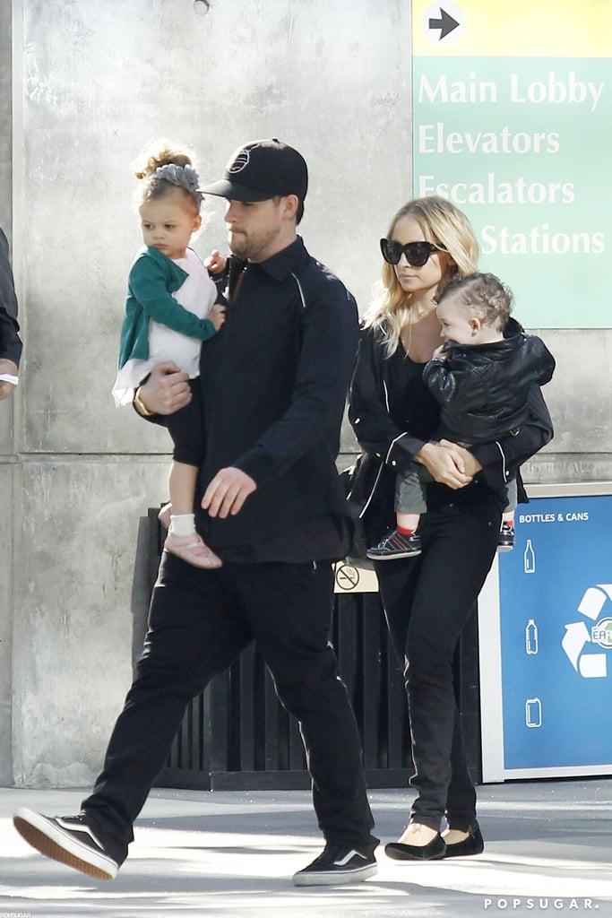 Nicole Richie, Joel Madden, Harlow, and Sparrow headed to downtown LA in November 2010.