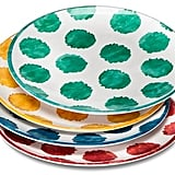 Mudhut MudhutTM Damask and Dots Melamine Dinner Plates - Set of 4 ($14.99)