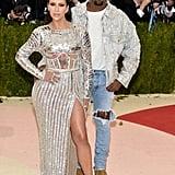 Kim Kardashian and Kanye West at the Met Gala in 2016