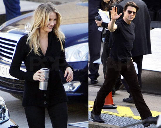 Photos of Cameron Diaz and Tom Cruise on the set of Knight and Day in Spain