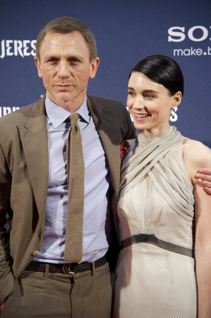 Daniel Craig and Rooney Mara brought The Girl With the Dragon Tattoo to Madrid.