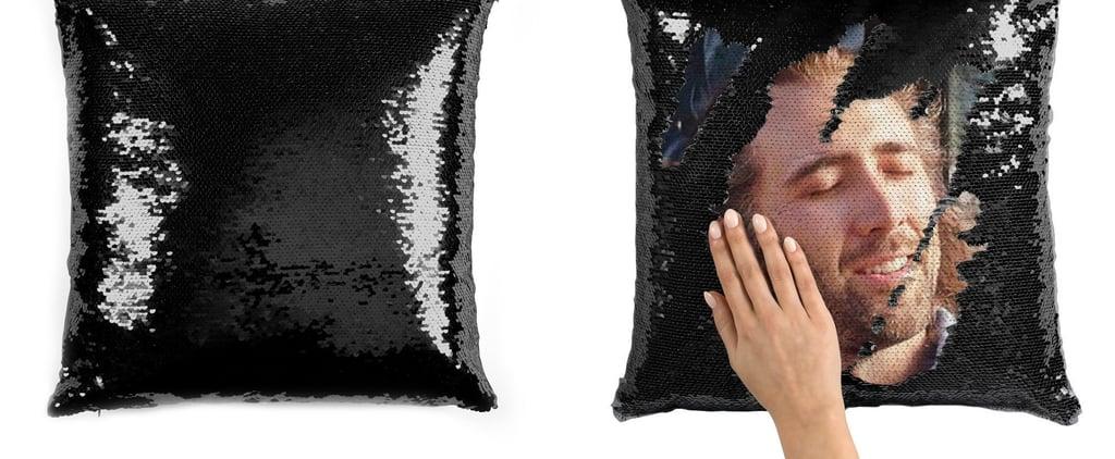 Nicolas Cage Sequin Pillows