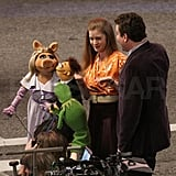 Jason and Amy Do a Little Dance With Kermit and Miss Piggy!