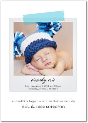 Tiny Prints Winter Boy Birth Announcements