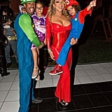 Mariah Carey as a Devil, Monroe Cannon as Rapunzel, Nick and Moroccan Cannon as Luigi and Mario