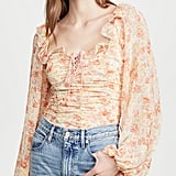 Free People Mabel Printed Blouse