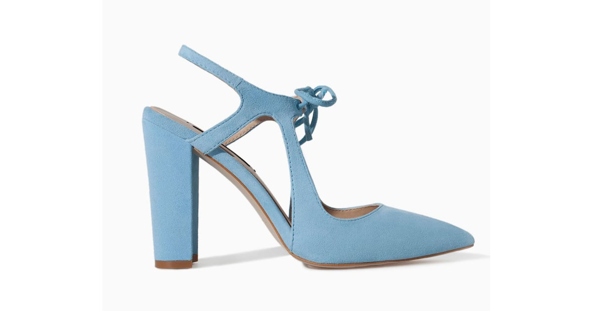 zara light blue heel with bow 100 best shoes from