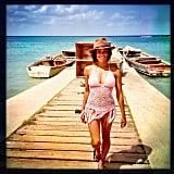 Graham worked on her tan in Jamaica. Source: Instagram user katgrahampics