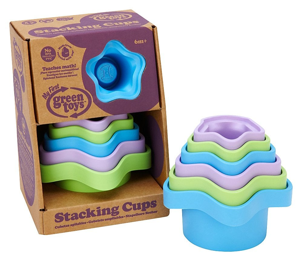 Not only are all of Green Toys' products made in the USA, they're also all made from 100-percent recycled plastic milk jugs. Start your little ones off on the right foot with a set of colorful stacking cups ($11).
