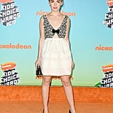 Kiernan Shipka Wearing a Miu Miu Dress at the 2019 Kids' Choice Awards
