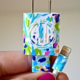Lilly Pulitzer Vinyl Monogram iPhone Charger Wrap Decal ($6)