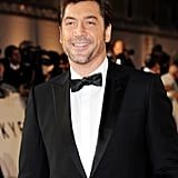 Javier Bardem was dressed up in a tuxedo for Skyfall's London premiere.