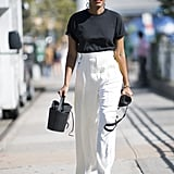 Tuck Your Tee Into High-Waisted Trousers