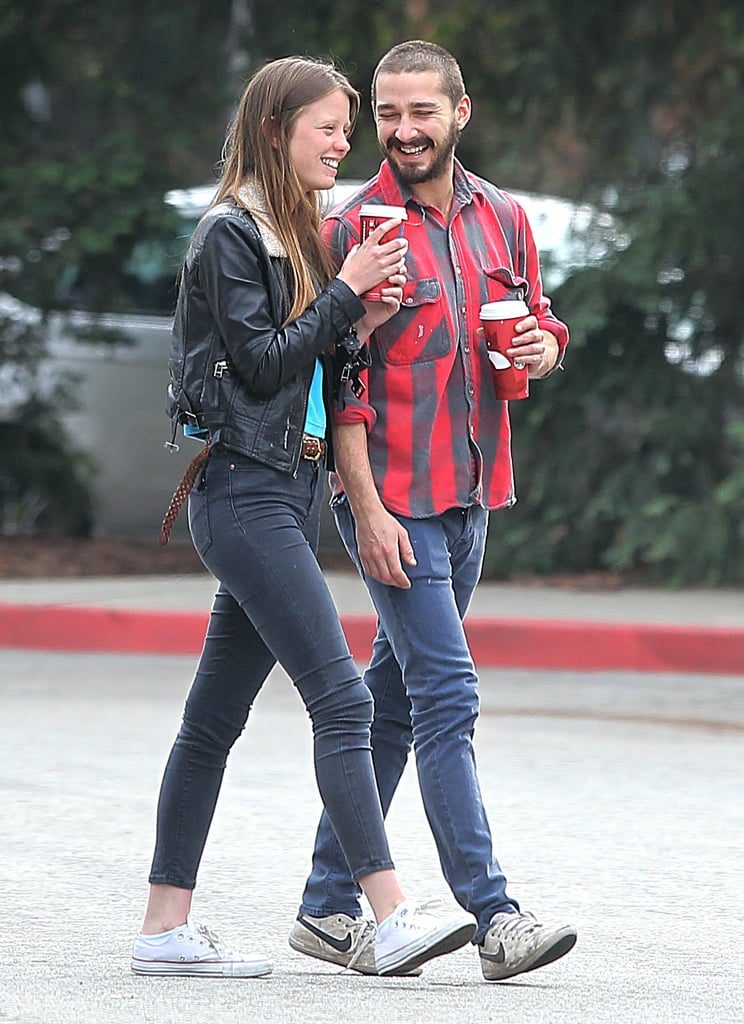 Shia LaBeouf and Mia Goth laughed together in LA. | Shia ... шайа лабаф