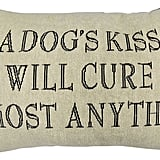 A Dogs Kiss Feather Tapestry Decorative Pillow