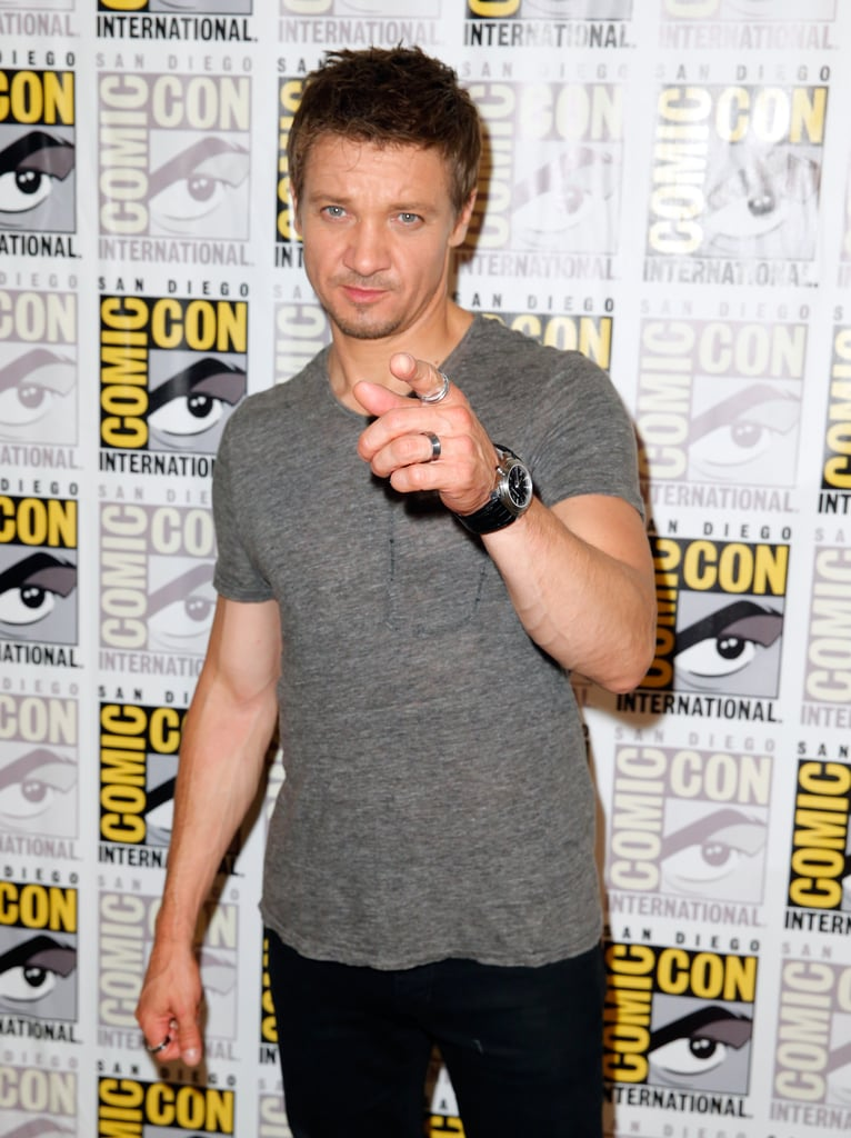 Jeremy Renner brought his sense of humor to the Marvel panel on Saturday.