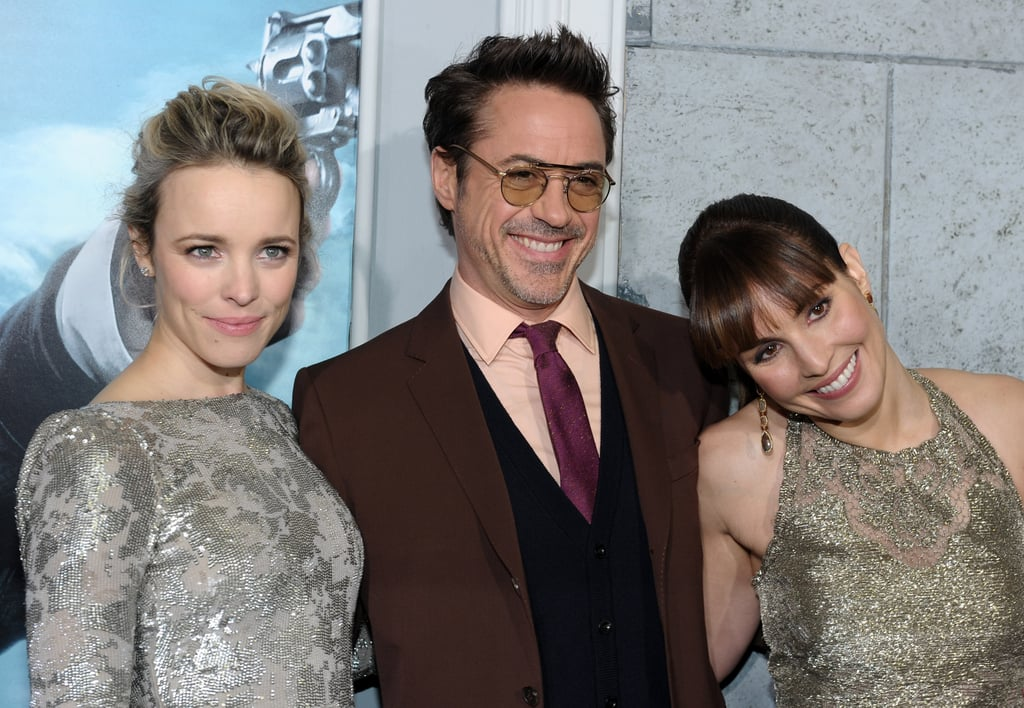 Rachel McAdams, Robert Downey Jr. and Noomi Rapace were close costars at the premiere of Sherlock Holmes: A Game of Shadows.