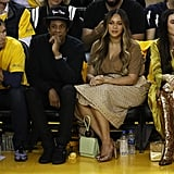Beyoncé's Neutral Outfit at the NBA Finals 2019