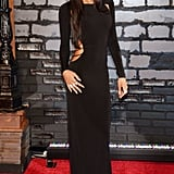 Naya Rivera stunned in a long black gown with a sexy side cut-out.