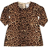 Barneys New York Leopard Cashmere Sweater Dress
