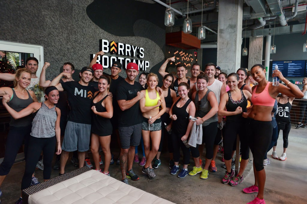 After An Intense Workout Ellie Posed With Her Classmates At The Miami Barrys Bootcamp Gym