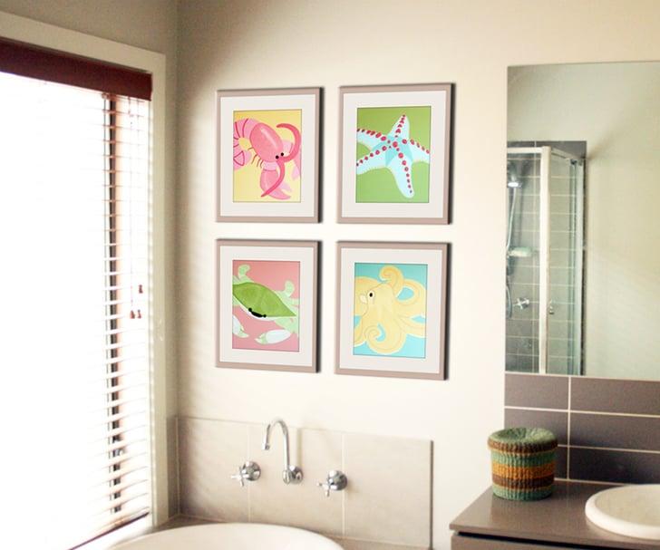 bathroom art for kids kids bathroom decor ideas