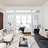 POPSUGAR: Where should someone start decorating when they move into a new place and have nothing?   Shannon Smith: Start with the staple pieces. You're going to need a place to sit and a place to sleep, at the very least. If you're unsure of the direction you'd like to go with the design of your space, stick with a neutral palette to start off with. If you choose large neutral pieces to start with, you can add in texture and colour with art and accessories!