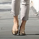 Pippa Middleton Gold Flats