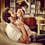 Josh Kelley got in some cuddle time with little Adalaide before heading to the studio. Source: Instagram user JoshBKelley