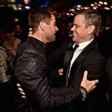 Pictured: Chris Hemsworth and Matt Damon