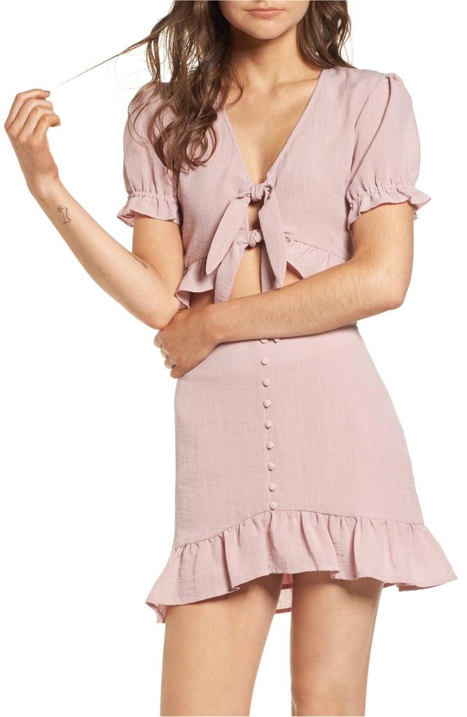 Crop Top and Miniskirt