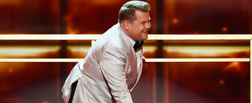 James Corden Stumbles His Way Through His Grammys Opener — Literally