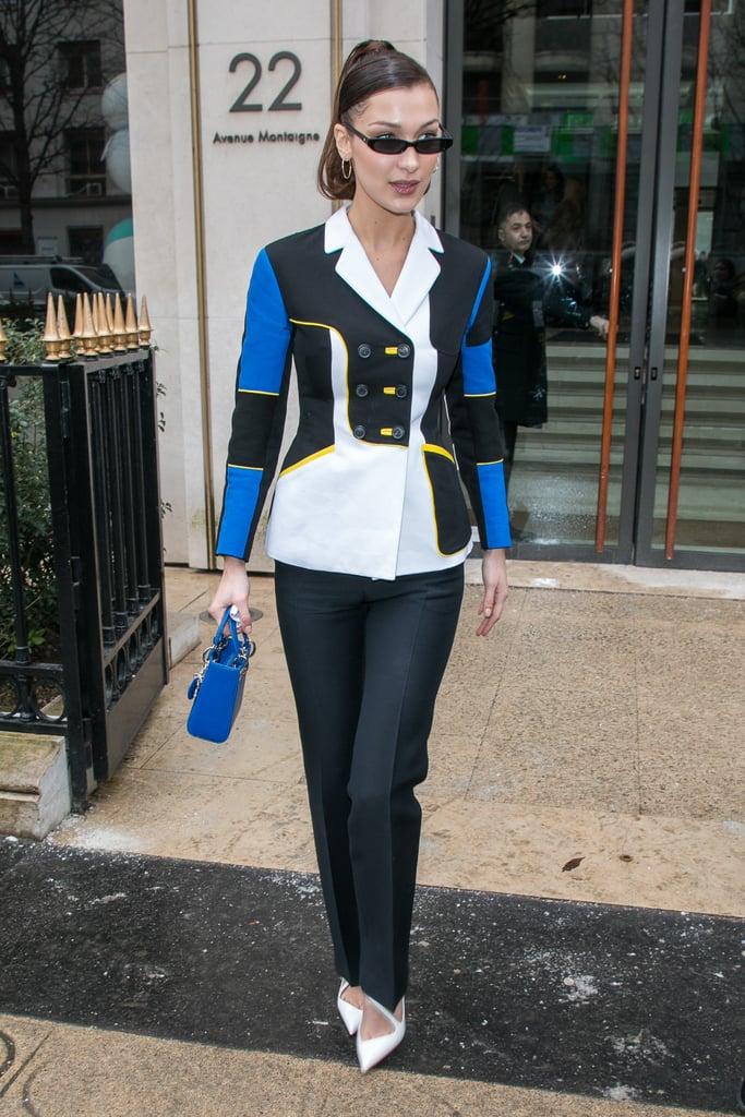 Bella Hadid White Heels at Paris Fashion Week