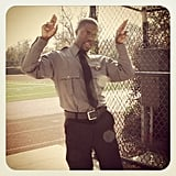 Kevin Hart showed off his security-guard uniform for his upcoming film Ride Along. Source: Instagram user kevinhart4real