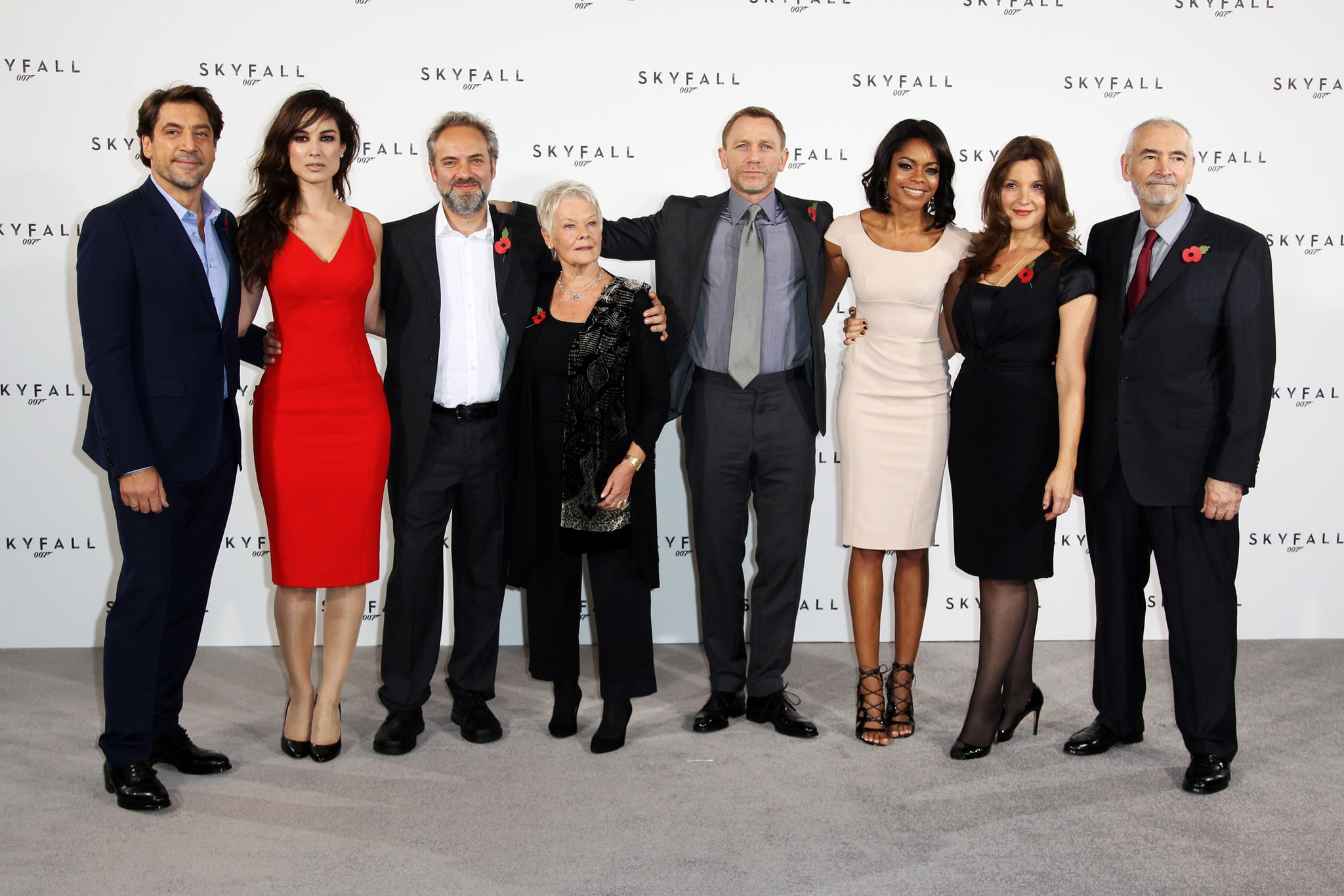 The cast of Skyfall took a spin for the cameras.